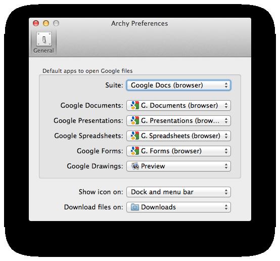 環境設定 - Google Docs